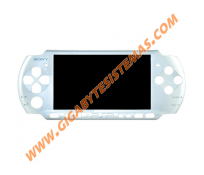 PSP 3000 Face Plate OFFICIAL *SILVER*