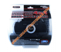 PSP 3000 Portable Stereo Speaker Movie Stand 4 in 1 *BLACK*