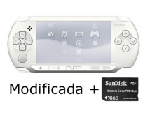 PSP E1000 blanca Modificada + 16GB