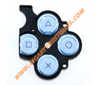 PSP SLIM Keystoke with Rubber *BLUE*