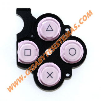 PSP SLIM Keystoke with Rubber *PINK*