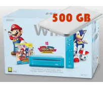 Wii Azul modificada sin Chip + Mario & Sonic + HDD 500GB