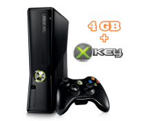 Xbox 360 4GB + X360Key + Kinect + K.Adventures